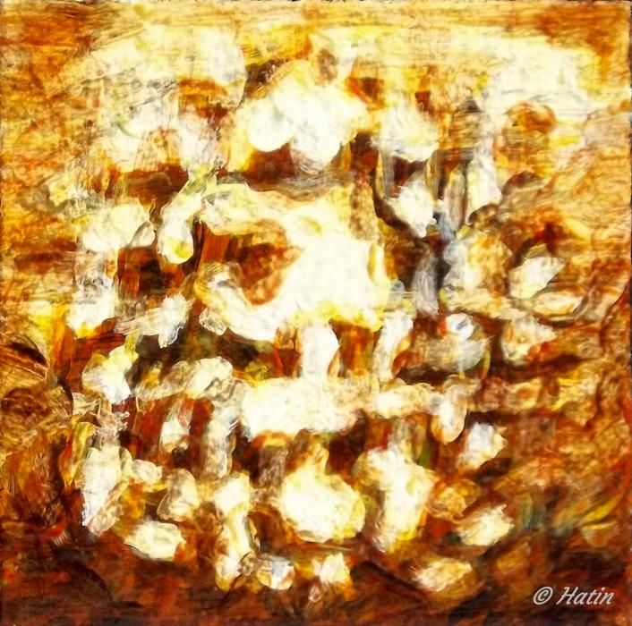 Peinture série carré inversion